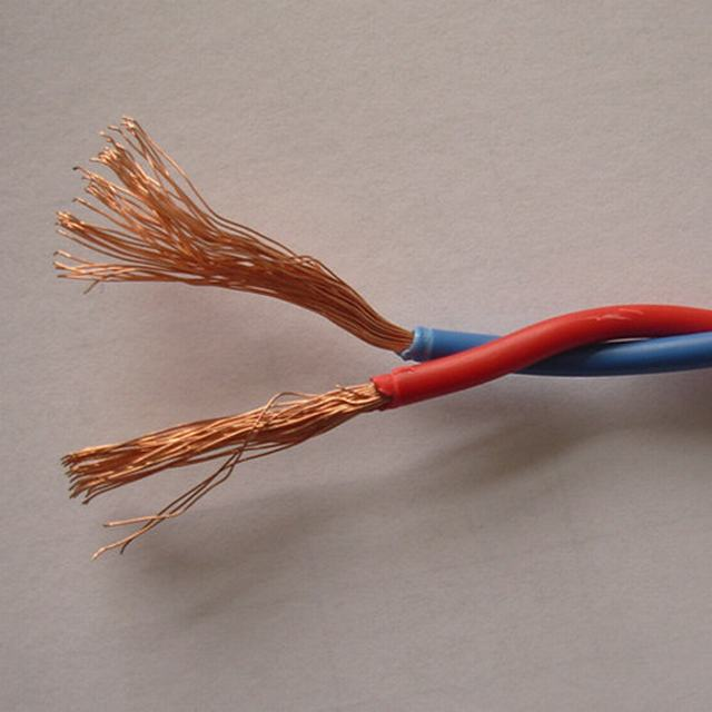 Flexible Copper PVC Coated Two Core Twisted Flexible Cable