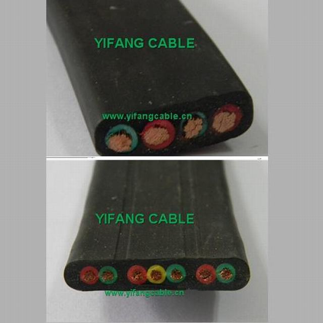 Flexible Flat Rubber Sheath Cable Elevator Cable