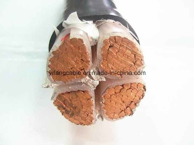 Four Core Copper Cable XLPE Insulation PVC Jacket Power Cable