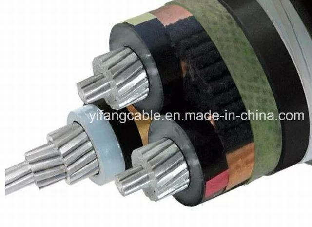 High Tension 20kv 35kv 3 Core Aluminum XLPE Armoured Cable