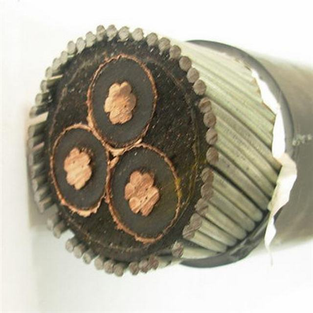 Medium Voltage Power Cable 11kv Three Core Swa Armoured with Copper Core