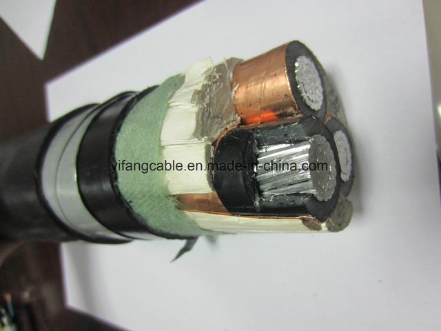 Mv 6kv Aluminum Conductor XLPE Insulated Power Cable