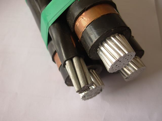 Mv Medium Voltage Three Core Aluminum Power Cable for Overhead