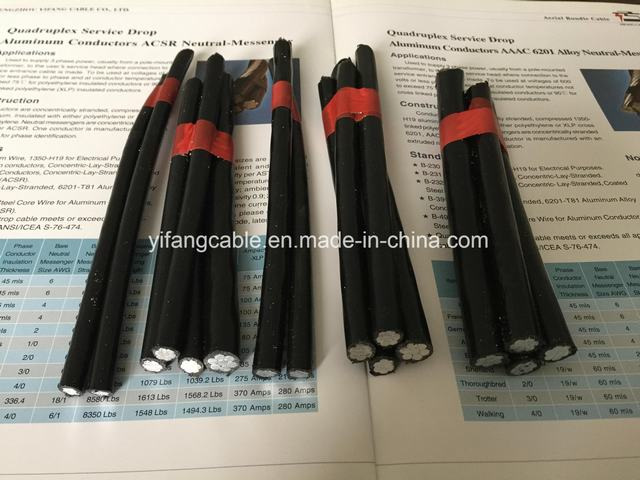 NFC Standard XLPE Insulated Aluminum Aerial Bundled Cable Malaysia Single Core Cables
