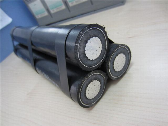Screen Aerial Cable Aluminum Conductor XLPE Insulated Aluminium 11kv Aerial Bunched Cable
