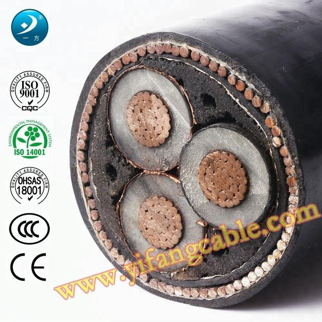 Yifang Mv Underground Power Cables Outdoor Energy BS7835 – 6.35/11kv 3 Core 35~400mm2 Swa
