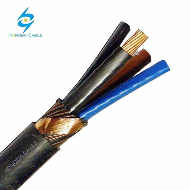 0, 6/1 Kv PVC Insulated, Concentric Copper Wire Screened, Multi Core PVC Sheathed Cable