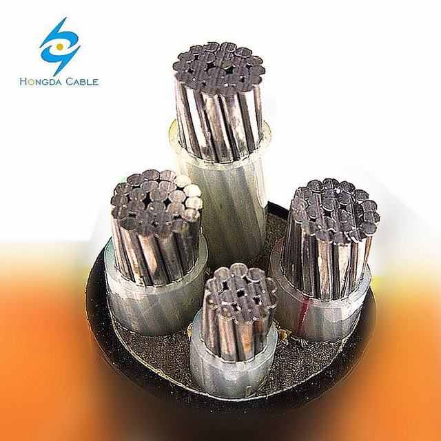 0.6/1kv 4 Core Aluminum Conductor XLPE Insulation Armoured Underground Power Cable