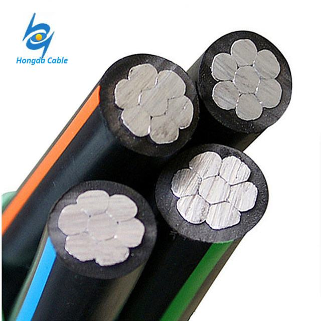 0.6-1kv XLPE Insulated Service Aerial Bundled Aluminum Overhead ABC Cable