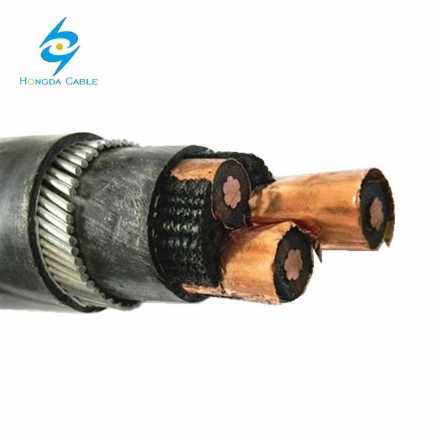 1.9/3.3kv 3 Core Swa PVC XLPE Insulated Medium Voltage Power Cable