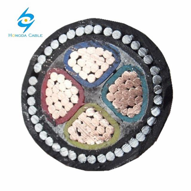 240mm 4 Core XLPE/Swa/PVC Galvanized Steel Wire Armoured Power Cable