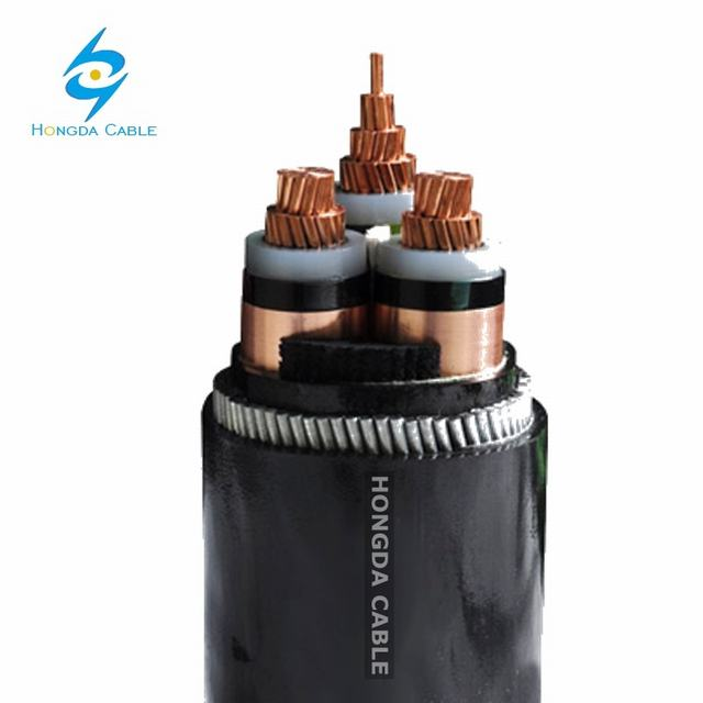 3core Copper-Conductor Medium Voltage Armoured XLPE Insulated Power Cable