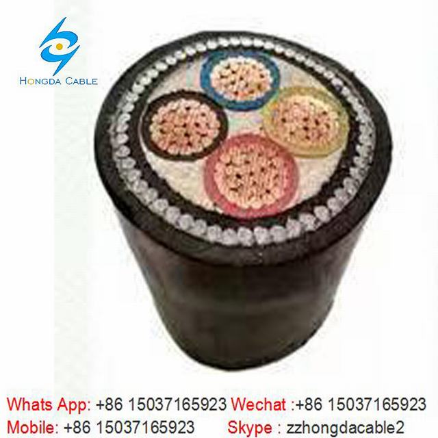 4*300 Steel Wire Armored Cable Cu/XLPE/PVC/Swa/PVC Armored Cable
