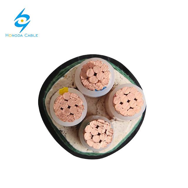 4 Core Cooper Unarmoured Underground Power Cable PVC Jacket XLPE Insulation 0.6/1kv Made in China