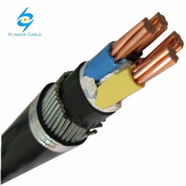 4c16 mm2 Cu/XLPE/PVC/Swa/PVC Copper Steel Wire Armored Cable