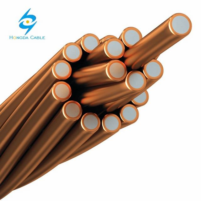 73.87 mm2 CCS 40% Conductivity 7#7AWG Strand Copper Clad Steel Wire