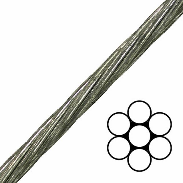 ASTM A475 Galvanized Guy Steel Wire Strands 1X7, 1X19