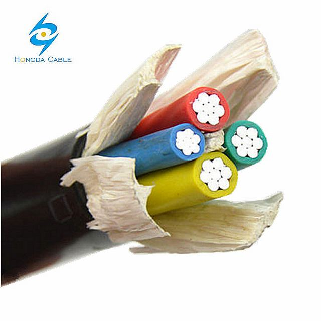 American Aluminum Cable 2 AWG Ground Wire 6AWG Wire 4 Core