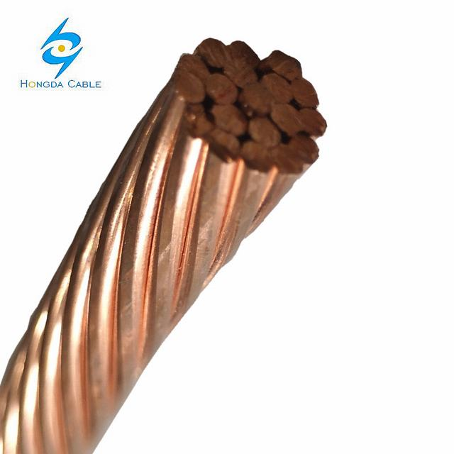 Bare Ground Copper Cable 2AWG 2/0AWG 4/0AWG 4AWG