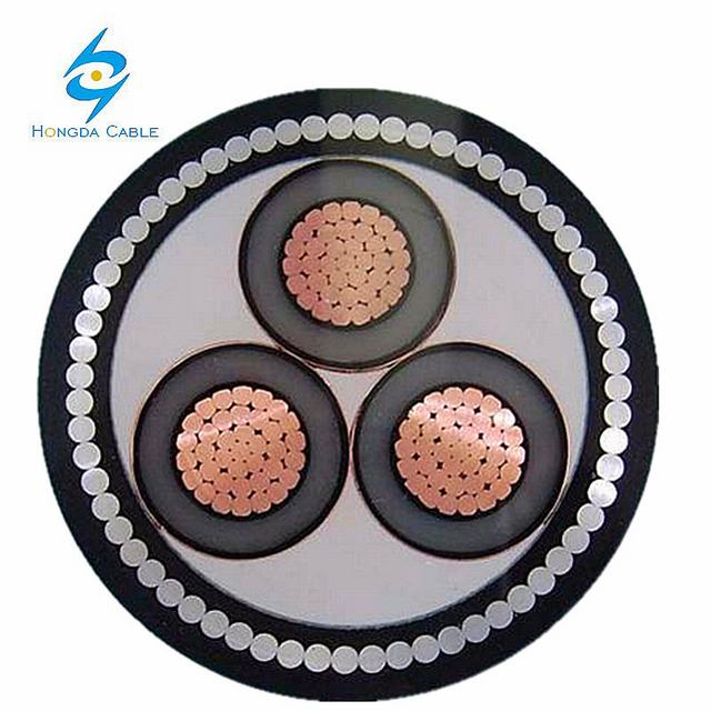Copper Aluminium XLPE Insulated PVC Sheath Electric Mv Power Cable
