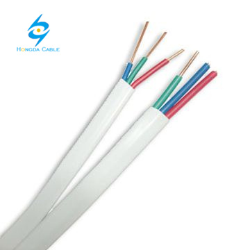 Copper Conductor PVC Sheath 3 Core Flexible Flat Cable