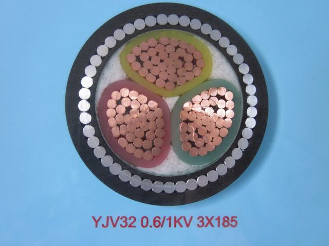 Copper Conductor XLPE Insulated Swa Steel Wire Armoured Electrical Cable