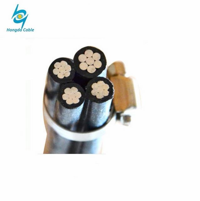 Electrical Power Flat Flexible Flex XLPE PVC Insulated Electric Aerial Bundle Overhead Quadruplex Duplex Aluminum ABC Cable