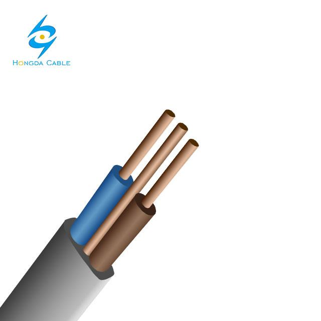 Flat Electrical Cable 2X2.5+1.0mm 3 Core 2+E Solid Flat Wire Power Cable