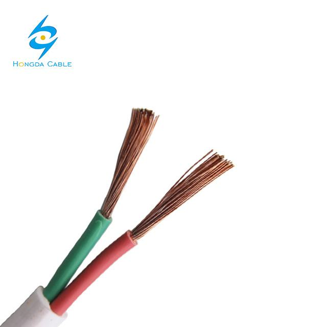 Flexible Cooper Wire PVC Insulation PVC Jacket Flat Cable TPS Cable
