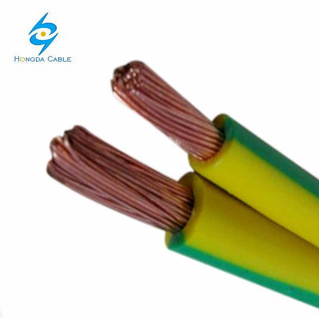 Flexible Copper Earth Wire Green -Yellow Copper Electrical Wire