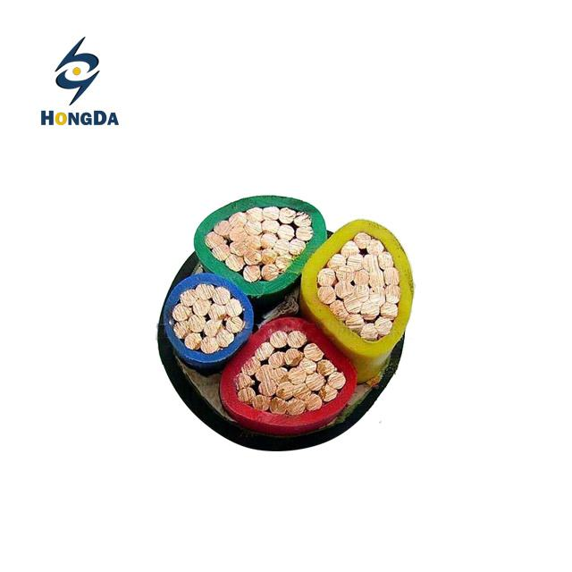 Four-Core, Cu Onductor, PVC Insulated, Unarmored, PVC Sheathed Power Cable, 0.6/1kv to IEC 60502-1