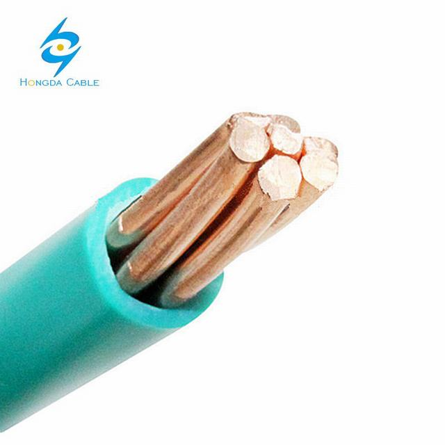 Green Color PVC Insulated Copper Ground Wire 6 AWG 4 AWG