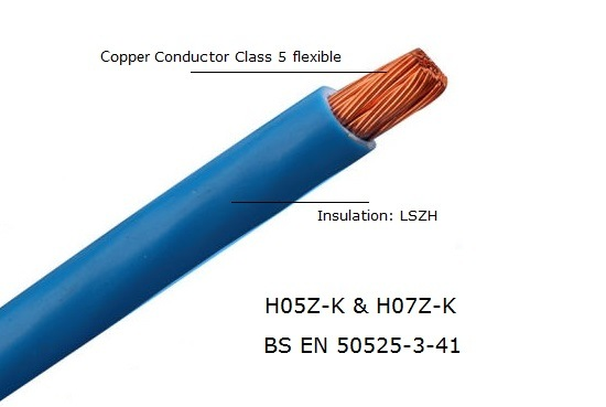 H07V-K Copper Single Core Cable PVC for Installation 2.5mm2 Red