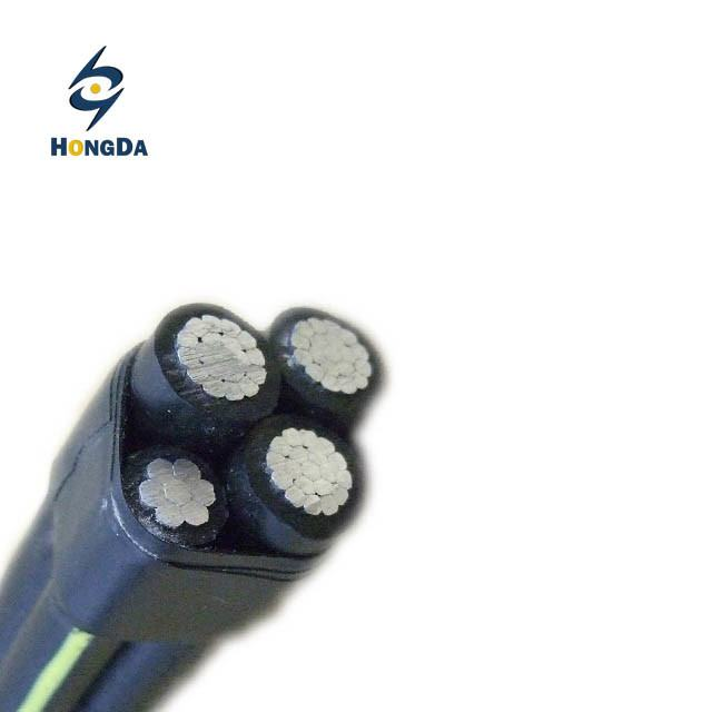 Low Voltage ABC Cable 3X95+50mm2 Black XLPE Insulation Aluminum Conductor China Factory