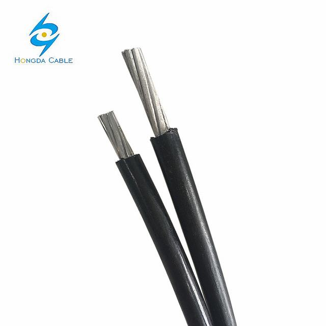 Low Voltage Aluminum Conductor XLPE Insulated Overhead Aerial Bundle Cable 2X16mm Douplex/Triple/Quadruplex Service Drop/Urd/ABC Cable