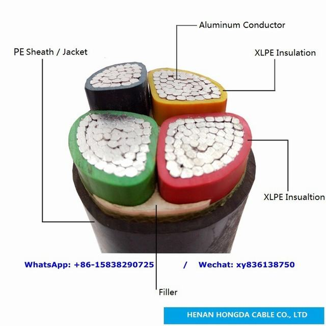 Low Voltage Power Cable with PVC Insulation Ayy-0 Ayy-J