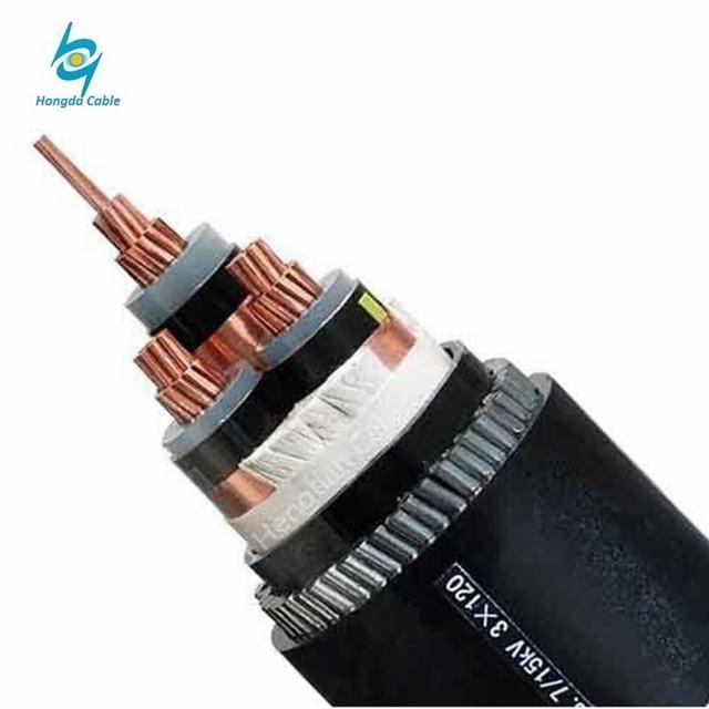 Medium Voltage 11kv 240mm2 Copper XLPE Insulated Steel