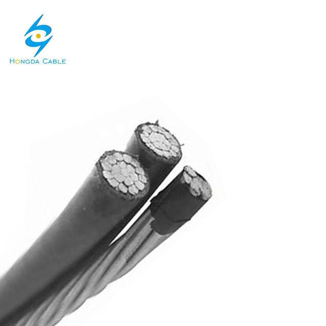 Overhead Aluminum ABC Cable XLPE Insulated 2+1 Core Twisted Duplex Triplex Quadruplex Multicore