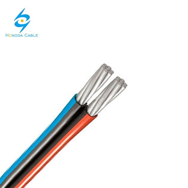 Overhead Aluminum Conductor XLPE Insulated Twisted Duplex Multicore Overhead ABC Cable