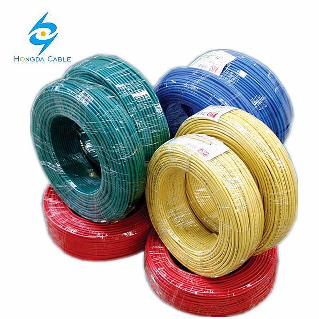 Solid & Stranded Copper Conductor PVC Insulated Ggreen Yellow Ground Wire