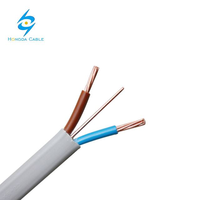 Twin and Earth Cable AS/NZS 5000.2 Standard SAA Certificate 2*2.5+2.5 PVC Wire 3*2.5mm Flat TPS Cable