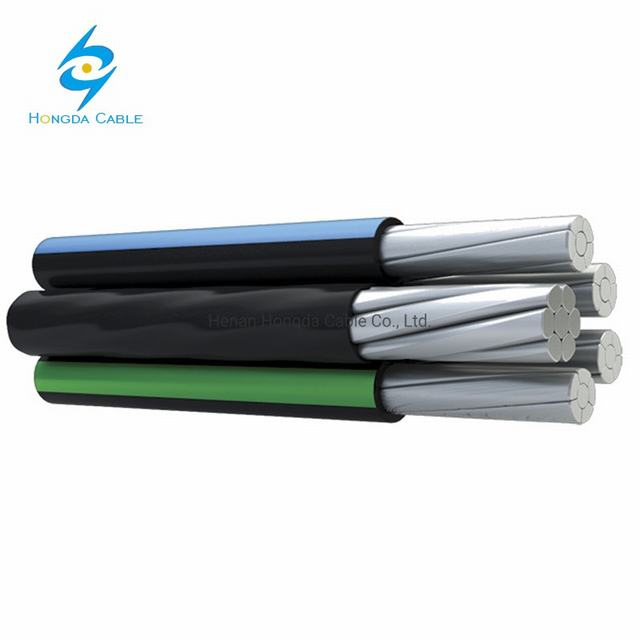 XLPE Insulation Al/R ABC Cable 2X16mm2 4X16mm2 Aerial Power Cable