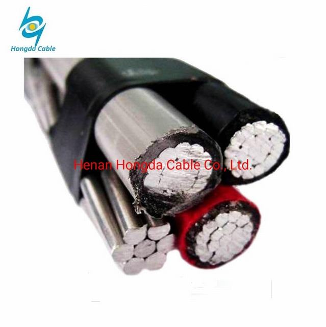 XLPE Quadruplex Aluminum Aerial Bundle ABC Cable Barnacle 2*4+4AWG