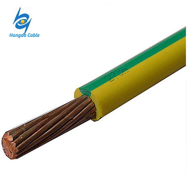 Yellow Green Grounding Cable 1.5mm2 2.5mm2 4mm2 6mm2 10mm2