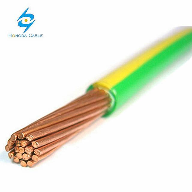 Yellow Green Stranded Copper 70mm2 Electric Earthing Cable