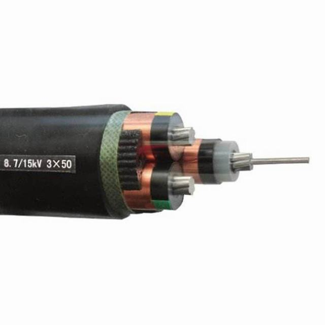 15kv Aluminum Conductor XLPE Insulation 3 Core Power Cable 50mm2