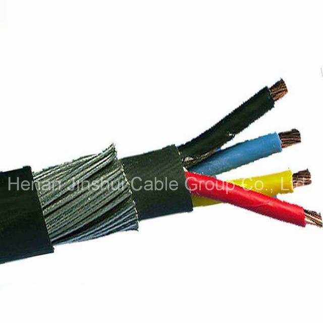 1kv Copper Conductor 4 Core Steel Wire Armor Cable