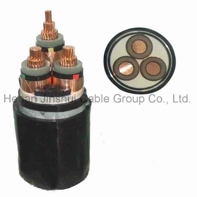 3 Core Copper Conductor High Voltage XLPE Power Cable