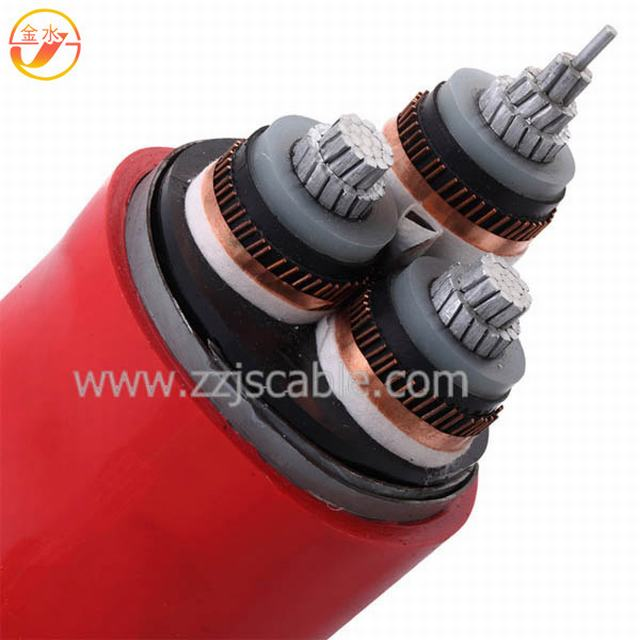 35kv Copper (Aluminum) Conductor XLPE Insulated PVC Sheathed Power Cable