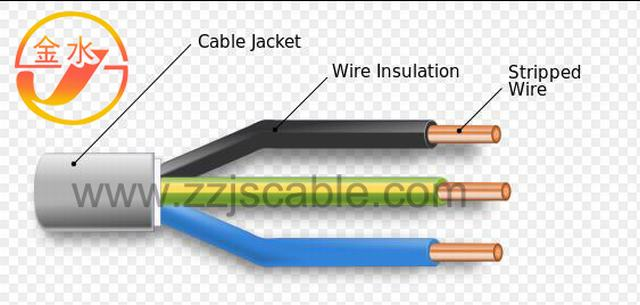 Copper Wire PVC Insulated Nylon Jacket Electric Building Cable